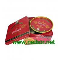 Square tin box with double lids for egg rolls packaging cookie tin box