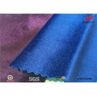 Shiny 144F Italy Sofa Velvet Upholstery Fabric For Home Textile , Anti - Static