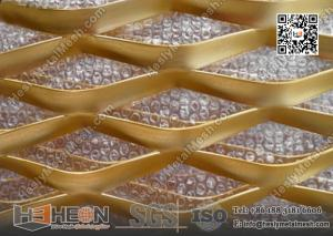 China 75X155mm Diamond Hole Golden Aluminum Expanded Metal Sheet | China Supplier on sale