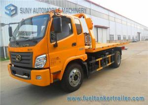 China Yellow Forland Times 5T flatbed tow truck 3 Seats 1 Sleeper Left Hand Drive on sale