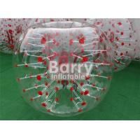 Outdoor Inflatable Toys 100% TPU / PVC 1.5m Red Dot Inflatable Bubble Soccer Ball