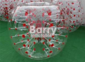 China Outdoor Inflatable Toys 100% TPU / PVC 1.5m Red Dot Inflatable Bubble Soccer Ball on sale