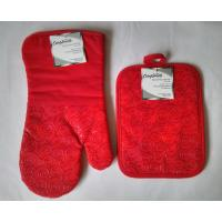Red Finger Oven Mitts Heat Resistant Kitchen Gloves 7 x 13 Inch