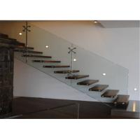 Prima Building Floating Steps Staircase With Prefab Steel And Wood Construction Materials