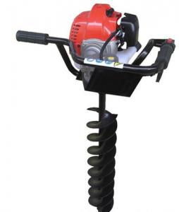 China High power gasoline earth auger with brake / ground drilling machine on sale