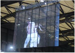 China High Resolution Transparent Led Video Display / LED Window Screen Internet Control on sale