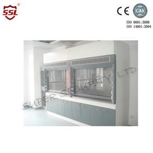 China El laboratorio lamina el mercado de aire químico de acero de la capilla Φ290mm del humo con el vidrio controlado eléctrico on sale