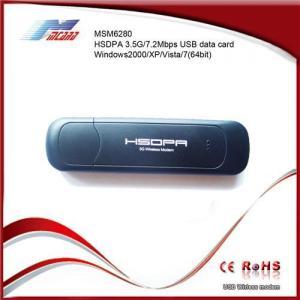 China 3G USB MODEM 3G MODEM WCDMA HSDPA 2100MHz MSM6280 on sale