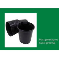 China Round Garden Nursery Pots Garden plant accessories Black or as request Color Plant Growing Material Plasitc Warranty per on sale