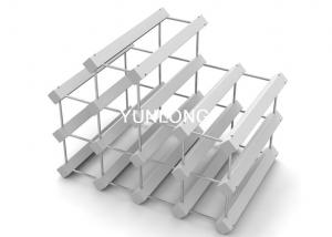 China Small Modern White Table Wine Display Stands For Exhibition on sale