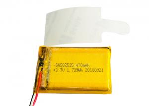 China OEM High Temperature Lithium Polymer Lipo Batteries 3.7V 470mAh 582535 for Automobile Data on sale
