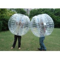 No Pungent Smell Inflatable Bumper Ball , Blow Up Bubble Ball With Harness Inside