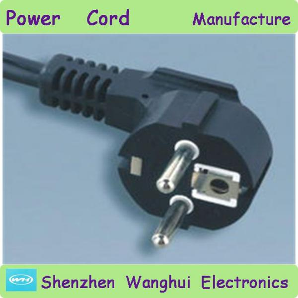 European style 2 pin round pin power plug with earth for sale ...