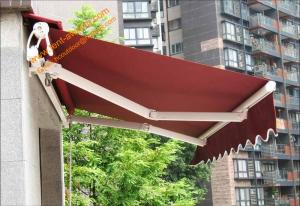 Aluminum Customized Sizes Retractable Electric Patio Awnings For