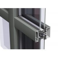 Easy Cleaning Curtain Wall Aluminium Profiles , Unitised Curtain Wall GB Certified