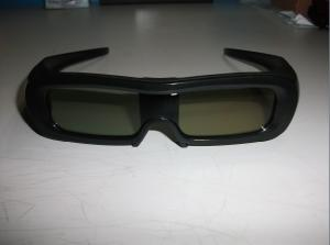 China IR Universal Active Shutter 3D TV Glasses With Black Plastic Frame on sale