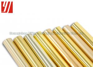 China Decorative 1 Inch Core 12 Micron Golden Hot Stamping Foil on sale