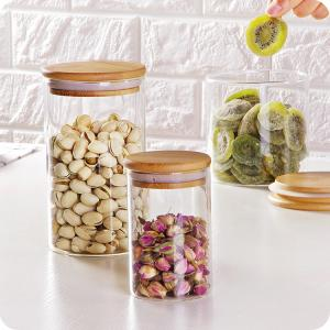 China Heat resistant high borosilicate hand made transparent glass storage jar on sale