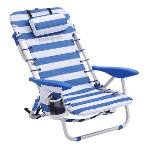 China Ergonomic Sun Lounge Chair Stackable Compact Colorful Adjustable With Pillow on sale
