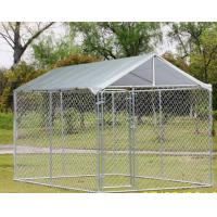 China Chain Link Fence Large Dog Enclosures Outdoor Galvanized Surface Treatment on sale