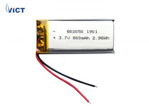 China 800mAh Power Tool Battery / 3.7 V Rechargeable Lithium Battery Size 8*20*51.5 mm on sale