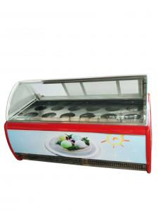 China Ice cream display case fridge display showcase for hard ice cream or popsicles on sale