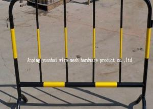 China Soft Steel Tube Powder Coated Secure Temporary Fencing , Steel Security Fence Portable on sale