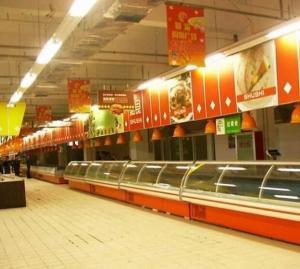 China Stainless Steel Shelf Deli Display Fridge Custom For Supermarket on sale
