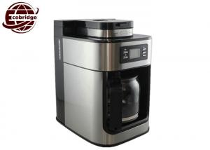 China OEM 1.25L Home Coffee Machines Black Silver Grinder 300*200*310mm 220V-240V on sale