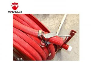 China Fire Fighting Fire Extinguisher Hose Reels Painted With Red Powder Coating on sale