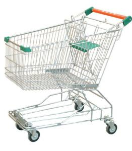 China European / American Supermarket Shopping Trolley Easy Wheels Shopping Cart on sale