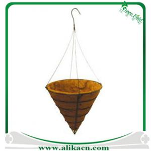 China Traditional Wire Hanging Basket and Liner on sale