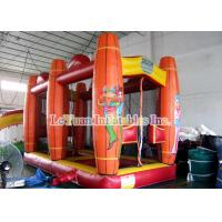 China Saloon Inflatable Sport Games , Comfortable Shooting Tent House And Shooter Gun on sale