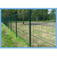 China Triangle Bending PVC Coated Steel 3D Curved Wire Fencing For Area Protection on sale