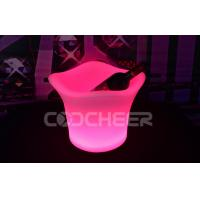 Glowing Acrylic Ice Bucket Rechargeable Ice Bucket Led Plastic Bucket For Ice Cream