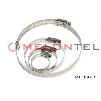 China Durable FTTH Accessories , Worm Drive Hose Clamps Stainless Steel 12mm Width on sale
