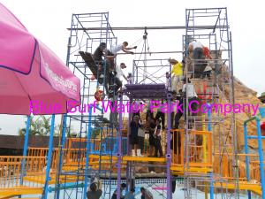 China Comfortable Safe Aqua Park Design With Stainless Steel Fastener / Fiberglass Flume wholesale