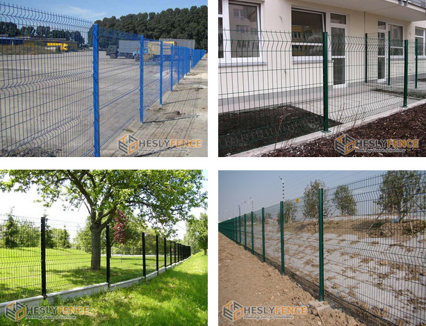 Beautiful Black Vinyl Coated Welded Wire Fencing