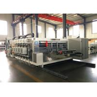 Double Press Line of Paperboard Automatic Feeder Flexo Printer Slotter Die Cutter With Stacker Machine