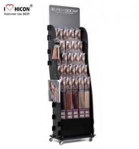 China Hair Salon Wig Display Ideas Movable Metal Wig Display Stands on sale