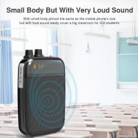 Ultralight Light Mini Portable Voice Amplifier LED Display Rechargeable Loudspeaker with FM for School, Super Market