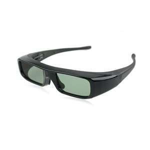 China MG05-DLP black DLP Link cinema Active shutter 3d tv glasses with rechangeable battery on sale