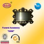 Zamak frame D057 Coffin Fitting gold color plate frame for funeral