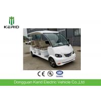 Brand New White 4kw DC Motor Drive Electric Buggy With 8 Sofa Seats For Airport