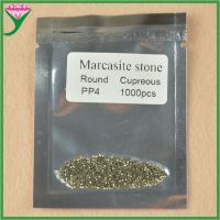 hot sell AAA grade pp4 round machine cut loose marcasite semi precious stone
