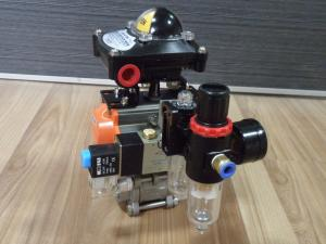 China pneumatic actuator ball valve with solenoid valve on sale