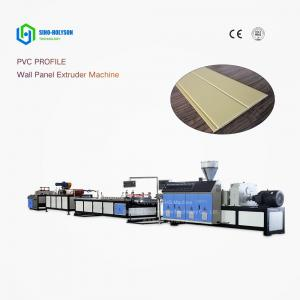 China Sinohs  CE ISO  SJZ-65/132 PVC 3D WALL PANEL PRODUCTION LINE on sale