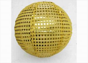 China 12 Fabric Shinny Sequence Nylon Round Lanterns Indoor Reuse Fiestive Decoration on sale