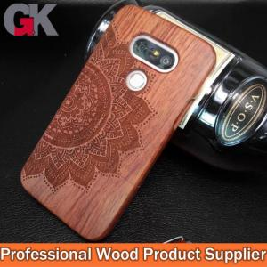 China Engraved rosewood mobile cases for LG G5 on sale