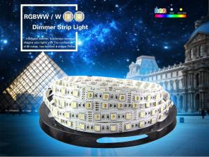 China 4 in 1 RGBW LED Strip 5050 DC12V Flexible LED Light RGB+White / RGB+Warm White 4 color in 1 LED Chip 60 LED/m 5m/lot on sale